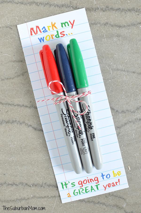 Sharpie Teachers Gift Printable