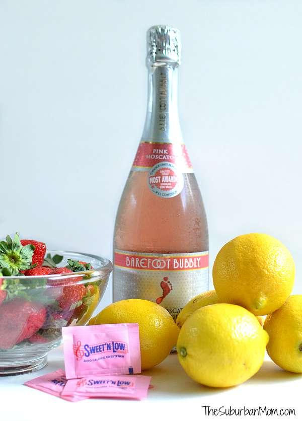 Strawberry Lemonade Mimosa Ingredients