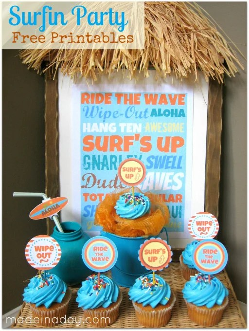 Surf's Up Party Printables