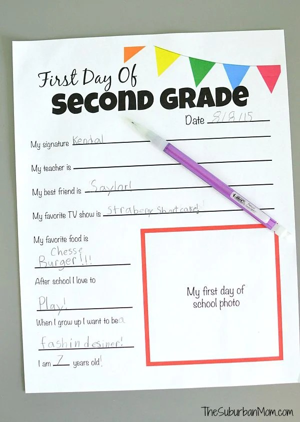 photo about First Day of School Printable referred to as All Over Me Absolutely free Printable