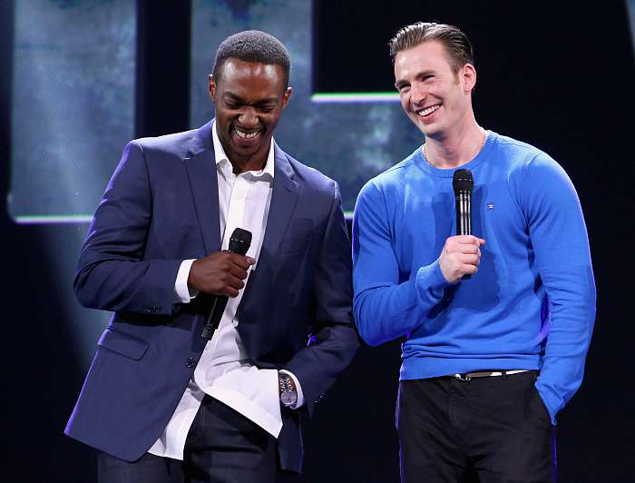 Anthony Mackie Chris Evans Captain America Civil War