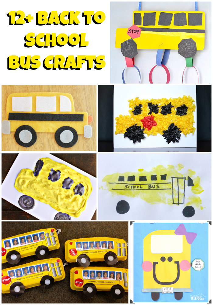 12 School Bus Craft Ideas Back To School Crafts The Suburban Mom