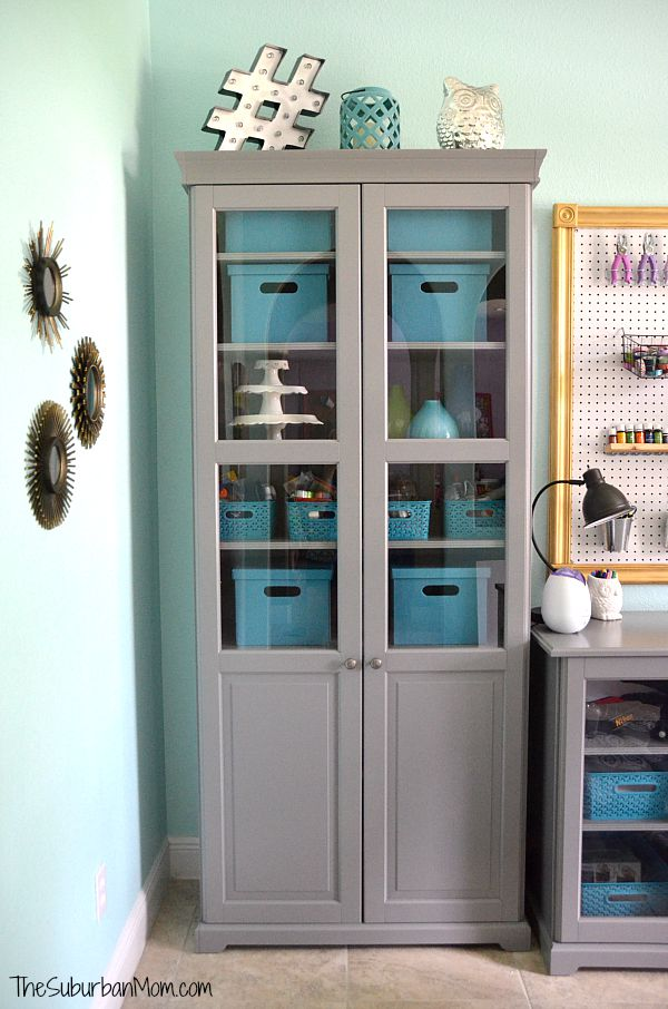 Home Office Accessories Tame Teal Paint