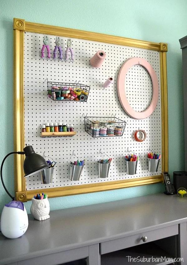 DIY Pegboard Craft Storage