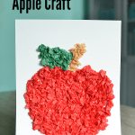 Tissue Paper Apple Craft For Preschoolers