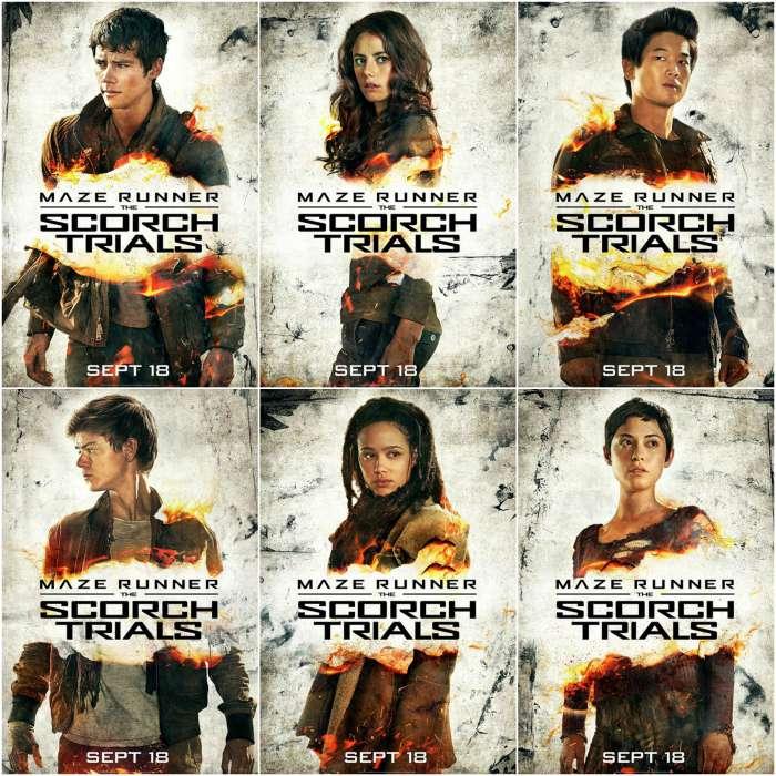 Maze Runner The Scorch Trials Cast Poster