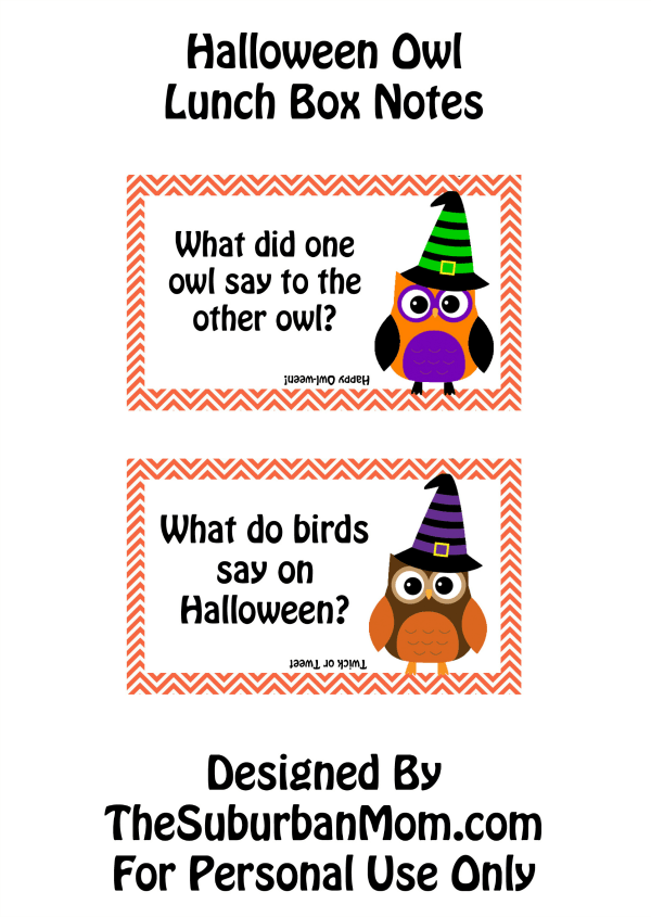 Halloween Lunch Box Jokes Owl