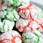 Christmas Crinkle Cookies
