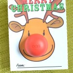 EOS Lip Balm Reindeer Christmas Card Printable