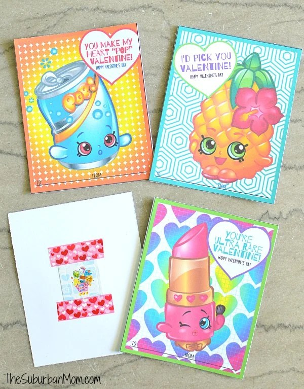 Free Shopkins Valentines Printable