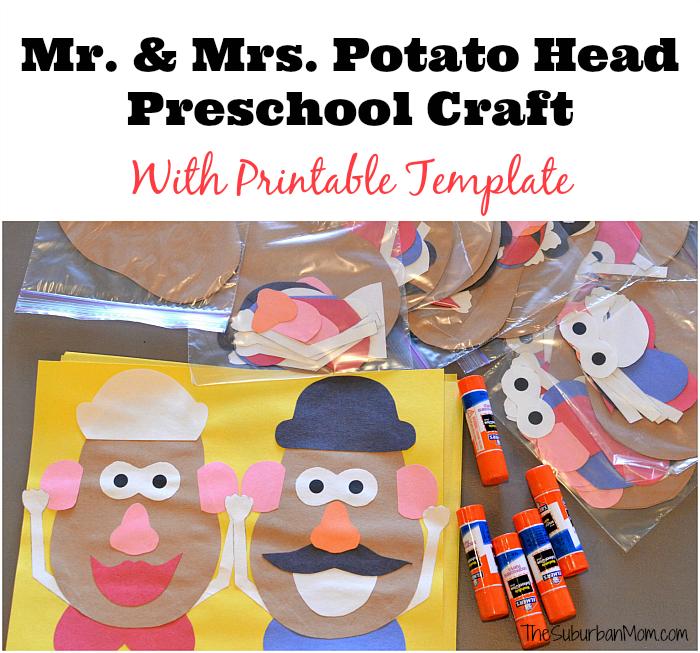 Mr and Mrs Potato Head Craft