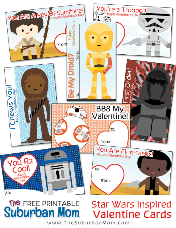 photograph about Star Wars Bookmark Printable identified as Cost-free Printable Star Wars Valentines Playing cards