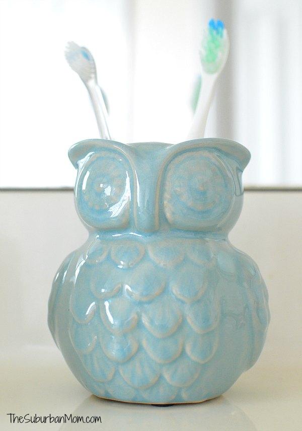Owl Toothbrush Holder