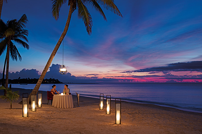 Romantic Sunset Dinner On The Beach