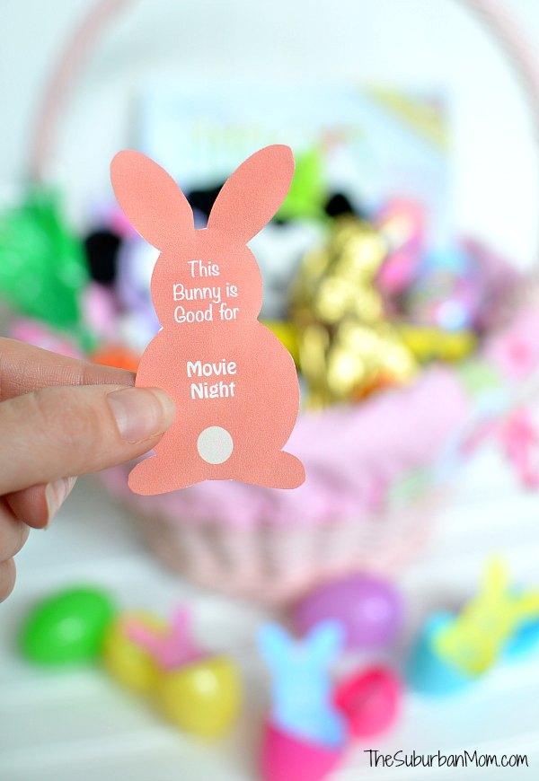 Easter Bunny Coupon Printable