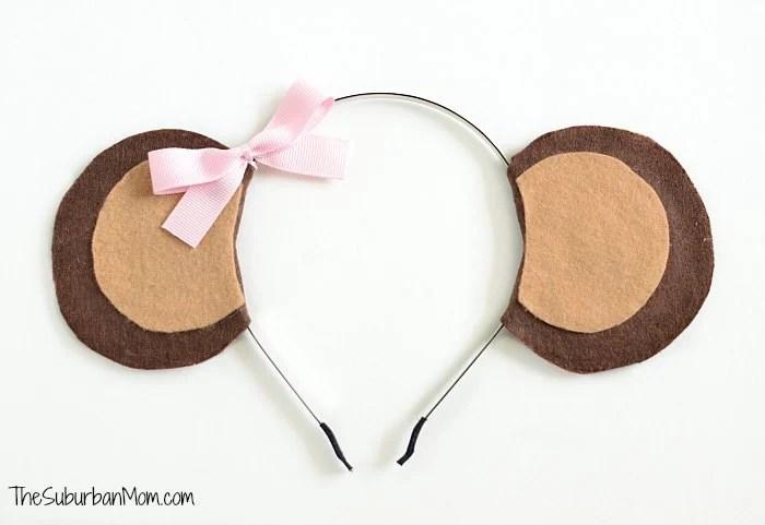 Girl Monkey Ears Headband