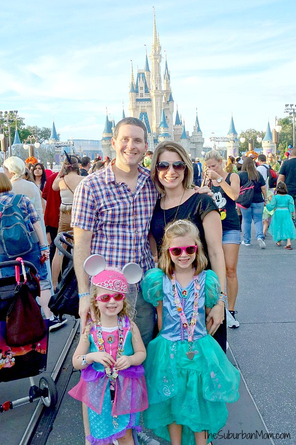 Disney Castle Family Photo