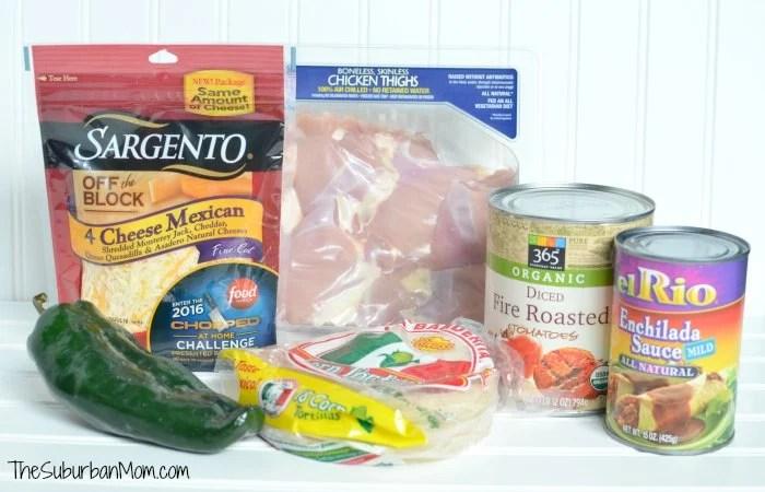Easy Slow Cooker Enchiladas Ingredients