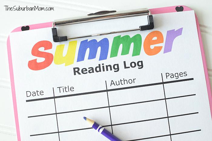 Summer Reading Log Printable