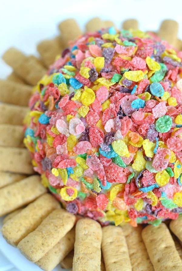 Fruity Pebbles Cheeseball
