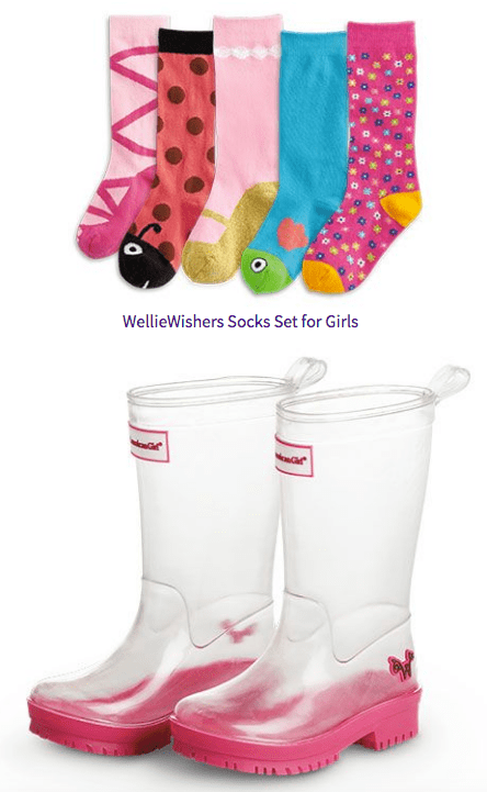 Wellie Wishers Socks and Wellies For Girls