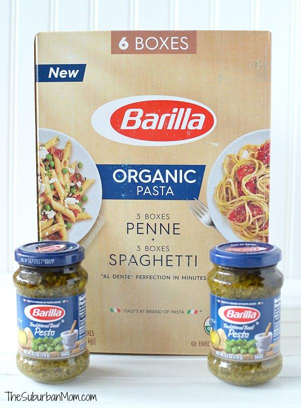 Barilla Organic Pasta and Pesto