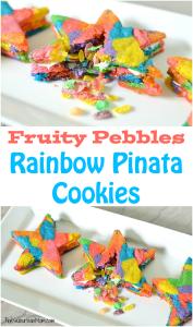 Fruity Pebbles Rainbow Pinata Cookies