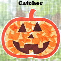 Pumpkin Sun Catcher Kids Craft