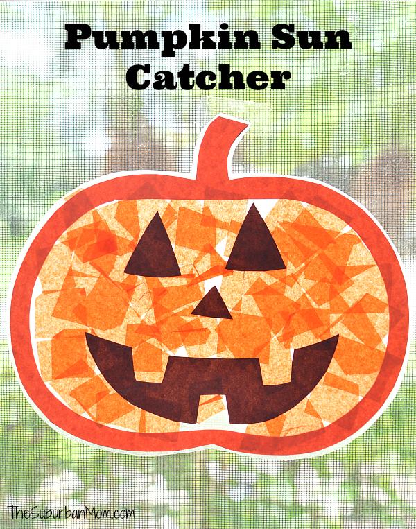 Pumpkin Sun Catcher