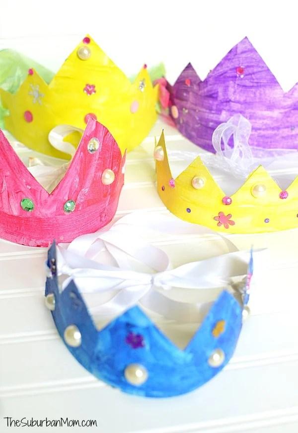 Cereal Box Princess Crowns