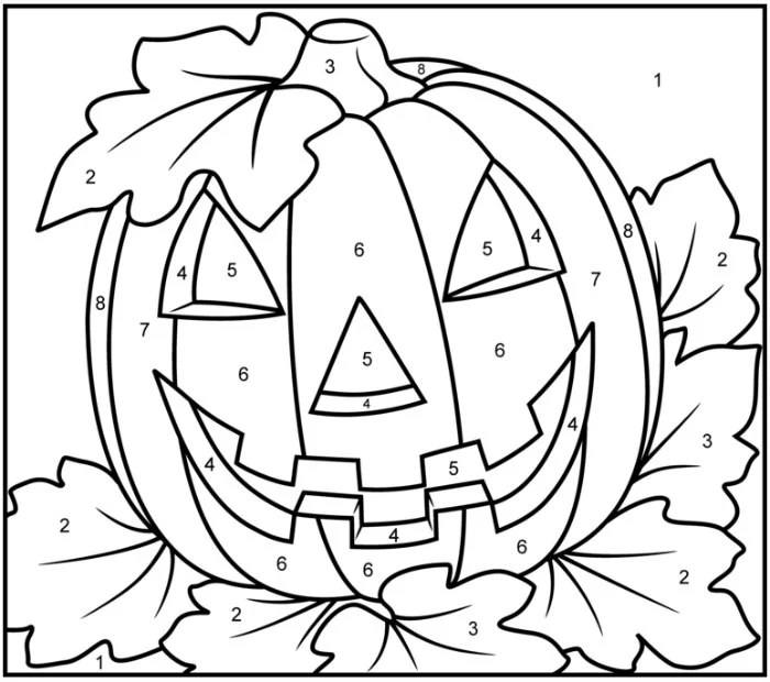 image about Halloween Color by Numbers Printable identified as 200+ Absolutely free Halloween Coloring Webpages For Youngsters - The Suburban Mother