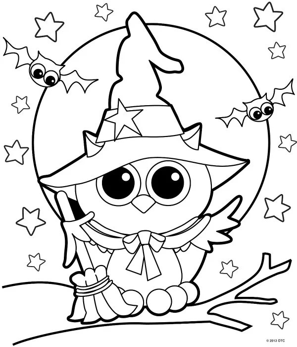 9  Free Halloween Coloring Pages For Kids - The Suburban Mom