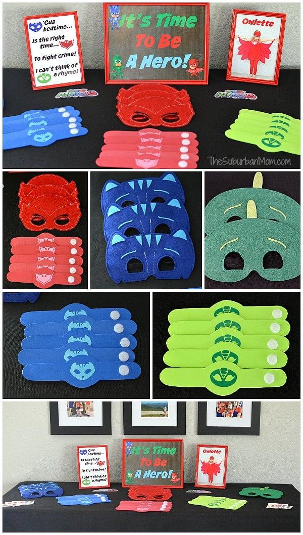 Pj Masks Birthday Party Ideas And Free Printables The Suburban Mom