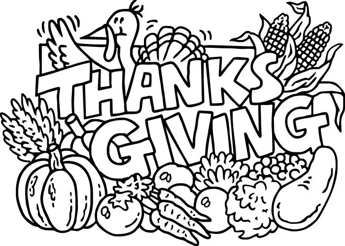 9  Thanksgiving Coloring Pages For Kids - The Suburban Mom