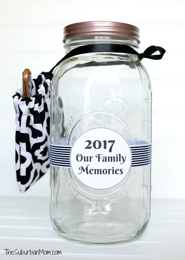 picture relating to Jar Printable titled Fresh 12 months Memory Jar Printable - The Suburban Mother