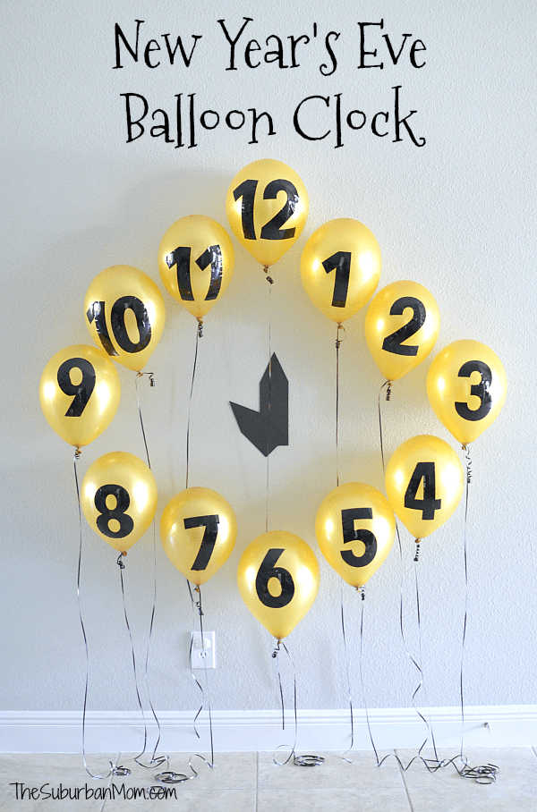 New Year's Eve Balloon Clock Countdown Decoration