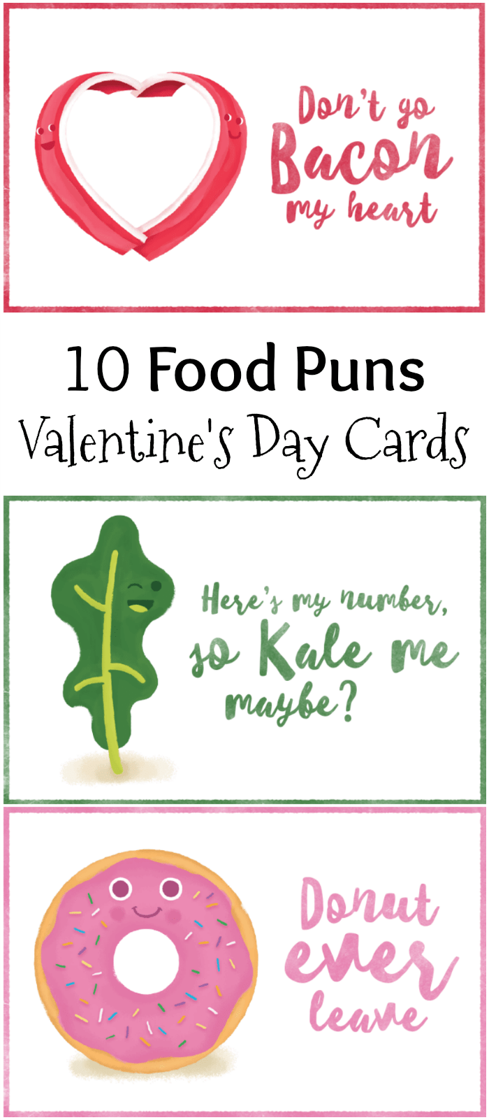 10 Food Pun Valentines Day Cards Free Printables