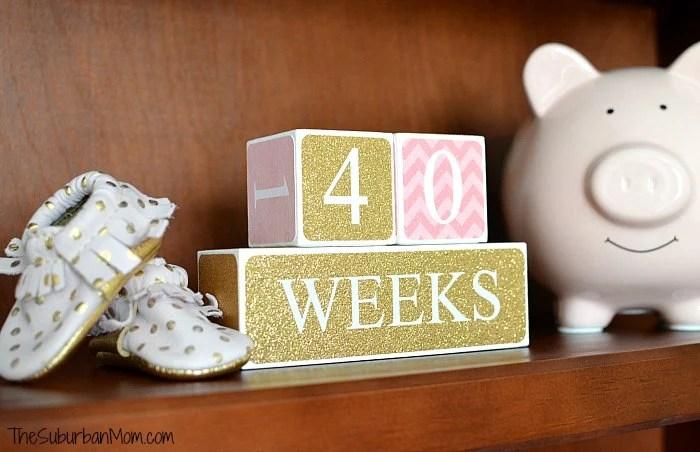 40 Weeks Baby Blocks