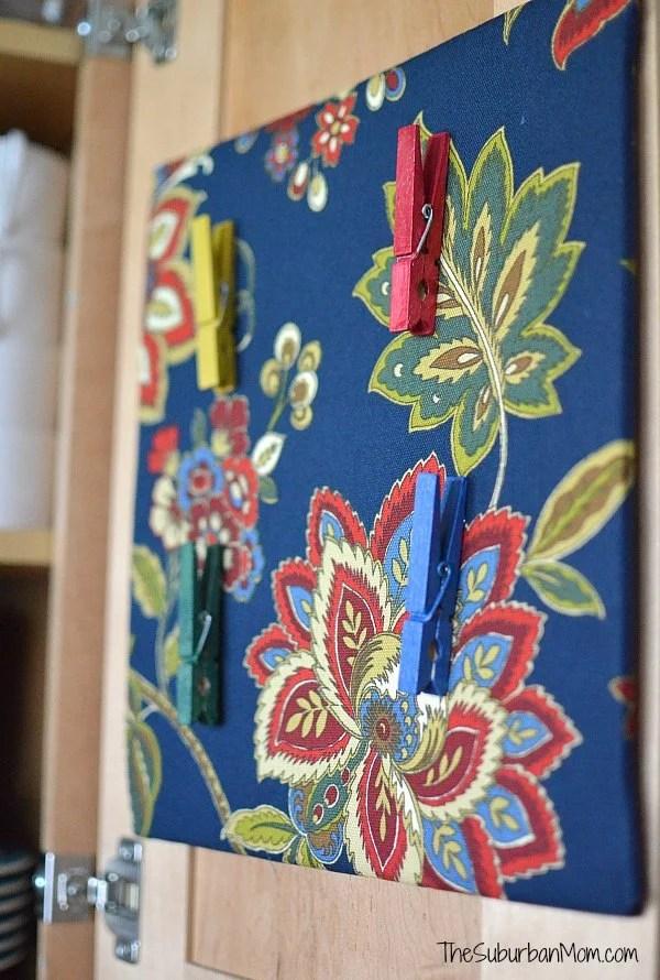 DIY Cork Board and Clothes Pin Tacks
