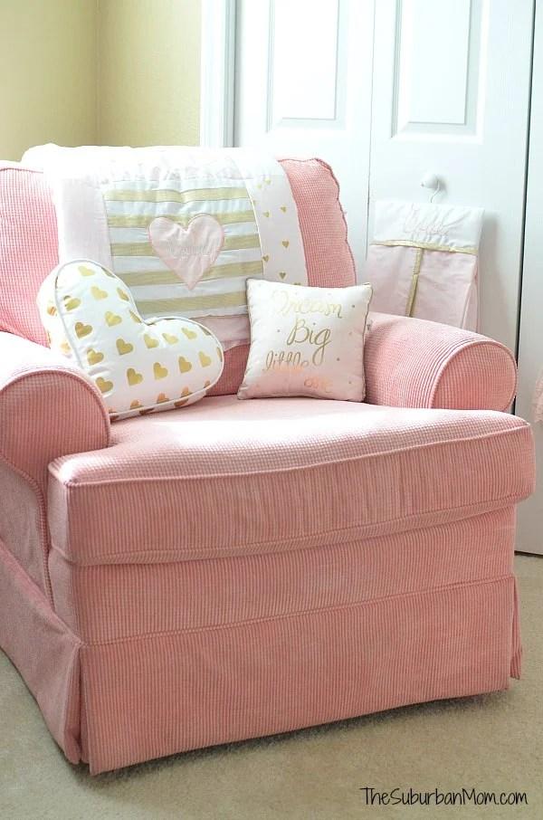 Pink Gold Nursery Chair