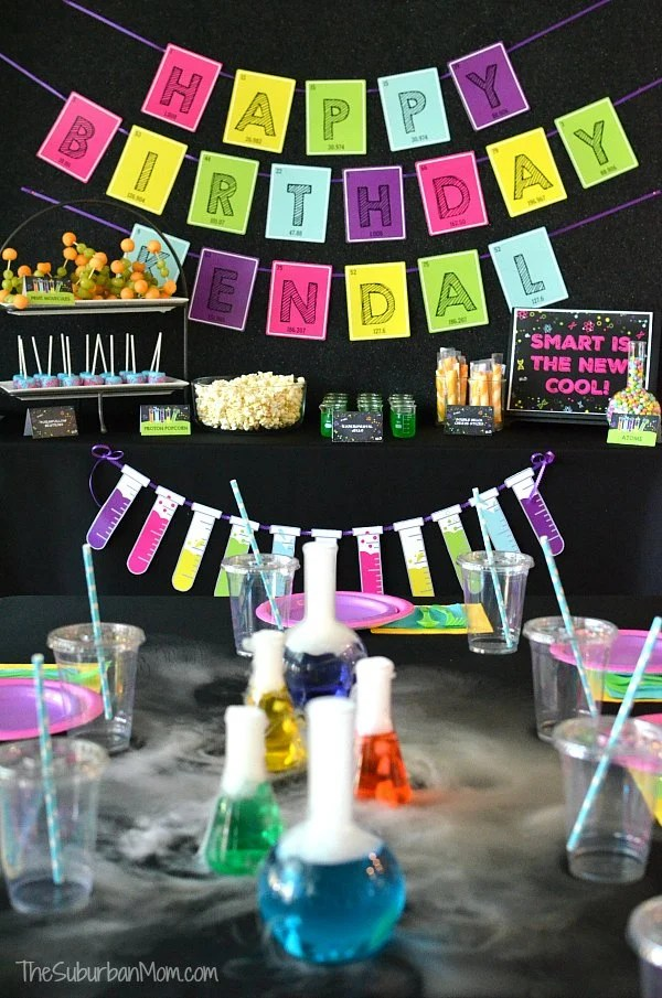 Science Birthday Party Ideas - Printables, Food, Experiments & More