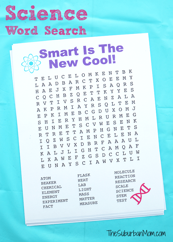Science Word Search Printable