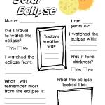 Printable Solar Eclipse Worksheet