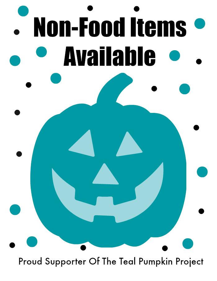 Teal Pumpkin Project Printable Sign