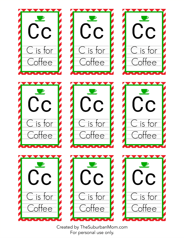 C is for Coffee Gift Tag