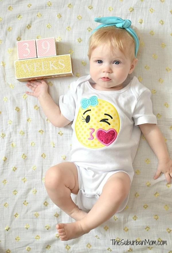 Emoji Onesie Birthday Outfit
