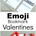Emoji Bookmark Valentines Day Cards