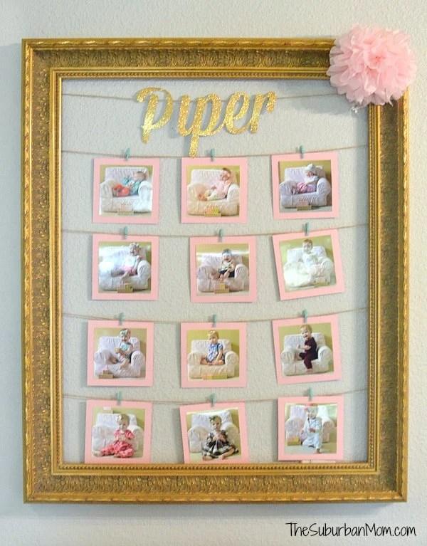 First Birthday Decoration Monthly Photos