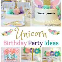 Unicorn Birthday Party Ideas - Food, Decorations, Printables