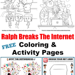 Free Ralph Breaks The Internet Coloring Pages